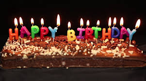 Happy Birthday HBD Chocolate Cake hd images Night Lights Wallpapers Colorful Candles Awesome Yammy