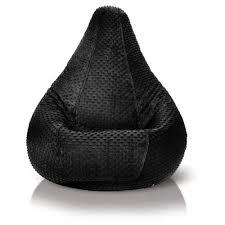 Minky Dot Black Bean Bag