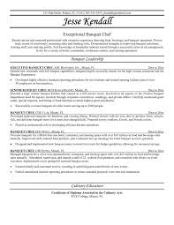 Sous Chef Resumes Resume Objective Samples Example Template Standard Obj Medium Size