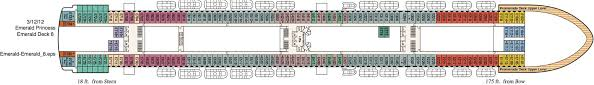 Grand Princess Deck Plan by Cruise Southampton