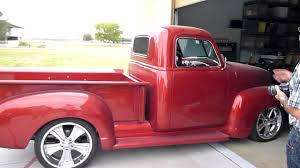 Custom 1951 Chevy V8 Pickup Truck, Startup And Walkaround - YouTube