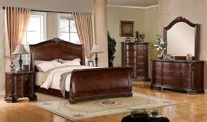 North Shore Sleigh Bedroom Set by Penbroke Brown Cherry Queen Sleigh Bed From Furniture Of America