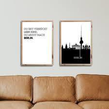 2er berlin poster set bilder für dein wohnzimmer 4one