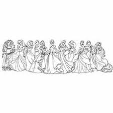 Disney Princess With Merida From Brave Coloring Pages