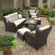 Outdoor Furniture Cushions Sunbrella Fabric by Patio Ideas Deep Seating Bullnose Deep Seating Outdoor Chair