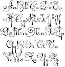 Fonts Alphabet Cursive I6 Craft Ideas Pinterest