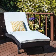 Modern Patio Chaise Lounge Reclining Rattan Bed Lounger Chair Outdoor Furniture ModernPatioChaise