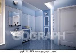 clipart blau badezimmer stock illustration gg71141923