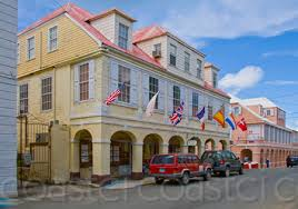 Caribbean Stock Photography Colonial Architecture From Coast