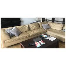 100 Roche Bobois Leather Sofa Designer