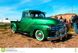 100 Chevy Hot Rod Truck Classic Green Pickup Editorial Photography Image Of