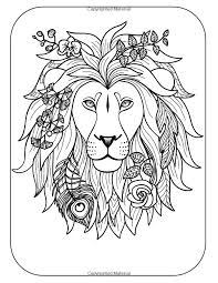 Wild Free Coloring Books For Adults Featuring Amazing Animal Designs Adult Volume