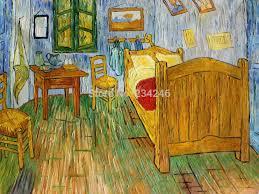 handgemachte leinwand öl malerei vincents schlafzimmer bei arles zimmer szenen malerei vincent gogh kunst