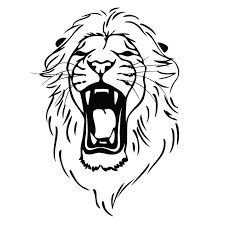 Full Size Of Cool Lion Simple Drawing Coloring Page Large Thumbnail