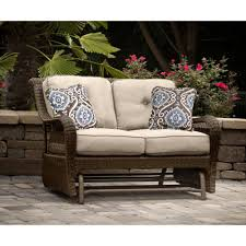 Veranda Metal Patio Loveseat Glider by Patio Chairs U0026 Outdoor Seating Rc Willey Furniture Store