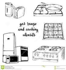 Download Doodle Assortment Of Gas And Kitchen Stock Vector