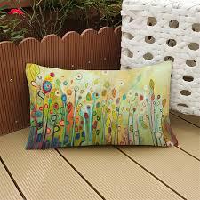taie coussin canapé 30x50 cm européenne pastorale style lombaire taie d oreiller en