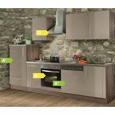 sk küchenzeile sina hochglanz lack 280 cm mit elektrogeräten geschirrspüler kühlschrank herd und dunstabzugshaube