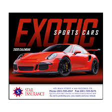 Exotic Sports Cars Wall Calendar Mines Press