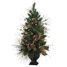 Get Quotations 40 Pre Decorated Gold Pine Cone Artificial Christmas Tree