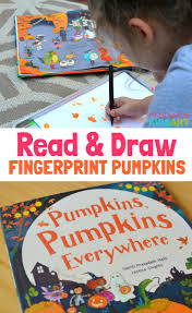 Spookley The Square Pumpkin Book Amazon by Halloween Read And Draw Fingerprint Pumpkins Handmade Kids Art