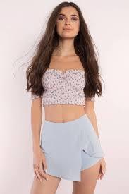 cute blue skirt overlap skirt mini skirt blue skirt 54