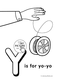 Letter Y Coloring Pages Of Alphabet Words For Kids