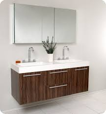 Vanity Furniture For Bathroom by Fresca Opulento Walnut Modern Double Sink Bathroom Vanity