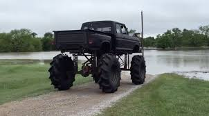 Ford Monster Truck Rescues Woman In Texas Flood | Medium Duty Work ...