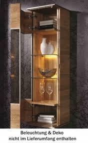 vitrine wandvitrine wandschrank wohnzimmer asteiche eiche massiv geölt lanatura