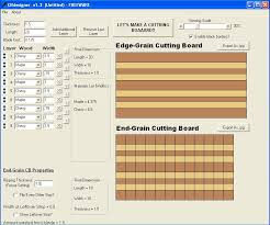 end grain cutting board design software plans diy free download