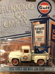 100 Hot Wheels Tow Truck 575 Greenlight Running On Empty 1956 Ford F100 Gulf