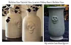 How To Make A Pottery Barn Skeleton Vase