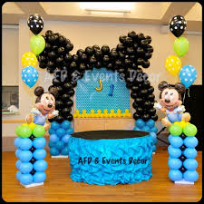 baby mickey mouse decorations with ballon party ideas for brithday