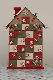 Ebay Christmas Trees India by Delightful Wooden Christmas House Advent Calendar Red U0026 Green