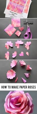 Learn How To Make Paper Roses With This Beautiful Rose Template Step By