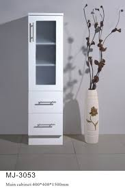 Narrow Bathroom Floor Cabinet by White Bathroom Cabinet White Finish Bathroom Vanities Bathroom