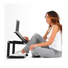 Multi Functional Ergonomic foldable laptop table for bed stand E