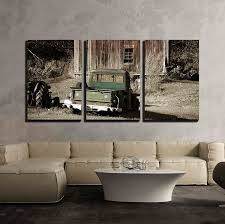 Amazon.com: Wall26 - 3 Piece Canvas Wall Art - Old Truck In Front Of ... Cartoon Fire Truck New Wall Art Lovely Fire Truck Wall Art Mural For Boys Rooms Gavins Room Room Dump Decor Dumper Print Cstruction Kids Bedrooms Nurseries Di Lewis Nursery Trucks Prints Smw267c Custom Metal 1957 Classic Chevy Sunriver Works Ford Fine America Ben Franklin Crafts And Frame Shop Make Your Own Vintage Smw363 Car 1940 Personalized Stupell Industries Christmas Tree Lane Red Zulily Design Running Stickers For Vinyl