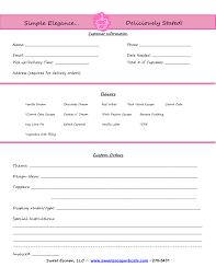 Template Cake Order Form Templates Free Cupcakes Pinterest Event