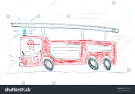99 How To Draw A Fire Truck Step By Step Child Ing Made Wax Stock Photo Edit Now 21540085