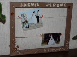 cadre mariage photo de notre mariage orange chocolat et beige