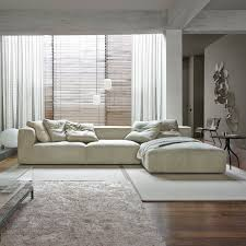100 Lignet Rose Corner Sofa Modular Contemporary Leather NILS Ligne T