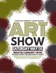 Art Show Floral Fundraiser Flyer