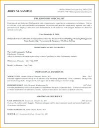 Phlebotomy Resume Sample Templates Qualifications