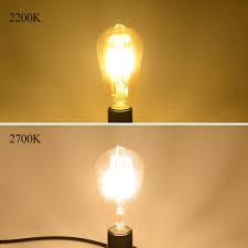 vintage led edison filament bulb dimmable st64 e27 220v 2w 4w 6w