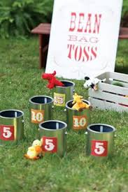 Feed The Cow And Pig Bean Bag Toss Game For Farm Theme Party In