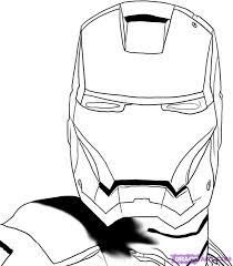 Pin Drawn Mask Iron Man 10