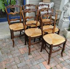Antique French Dining Chairs Rush Seats Carved Tall Ladder Back ... Antique Set Of 12 French Louis Xv Style Oak Ladder Back Kitchen Six 1940s Ding Chairs Room Chair Metal Oak Ladder Back Chairs Avaceroclub Fniture Classics Solid Wood Wayfair 10 Rush Seat White Painted Country Shabby Chic Cottage In Theodore Alexander Essential Ta Farmstead A 8 Nc152 Bernhardt Woven