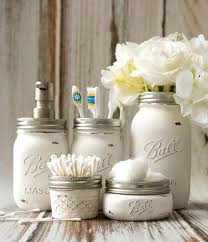 Gold Mercury Glass Bath Accessories by Mason Jar Bathroom Storage U0026 Accessories Mason Jar Crafts Love